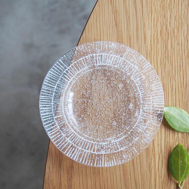 オオタ硝子研究室 リム小皿 白     OT-04