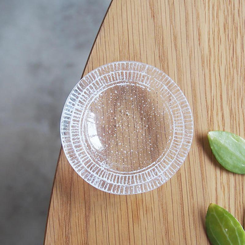 オオタ硝子研究室 リム豆皿 白     OT-01
