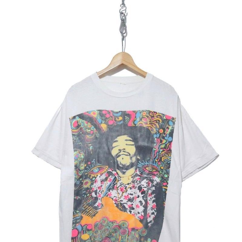 "80's~ ""Jimi Hendrix"" サイケデリック アート プリント Tシャツ"