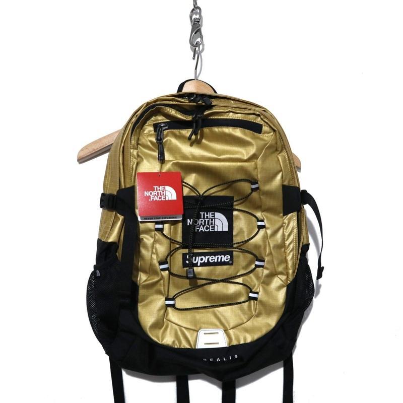 """新品 半タグ付き Supreme×The North Face Metallic Borealis Backpack """"GOLD"""""""