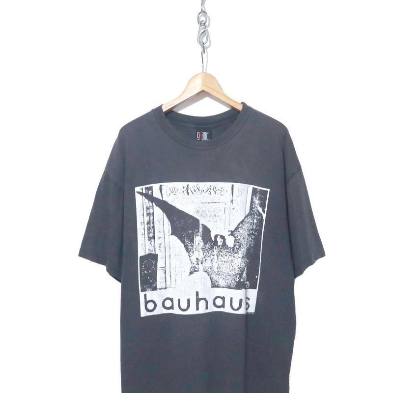 "90's giant Bauhaus ""undead"" プリント Tシャツ スミクロ XLサイズ"