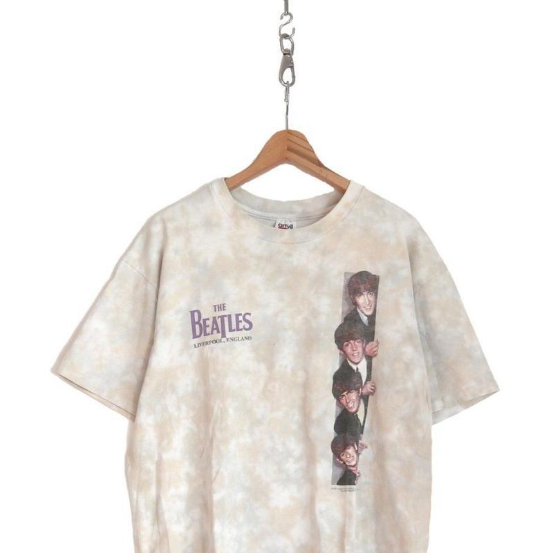 "90's THE BEATLES 両面 プリント Tシャツ ""Tie Dye"" XLサイズ USA製"
