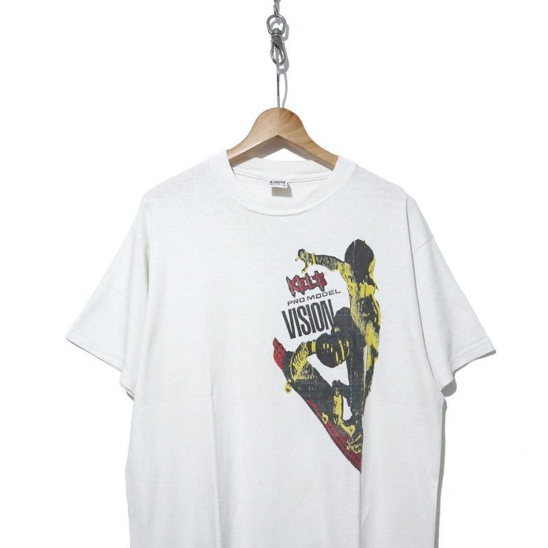 "80's VISION ""Kele Rosecrans"" 両面プリント Tシャツ XLサイズ USA製"