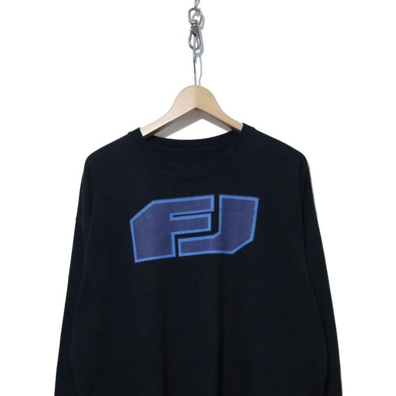 00's FJロゴ プリント ロングスリーブTシャツ BLACK