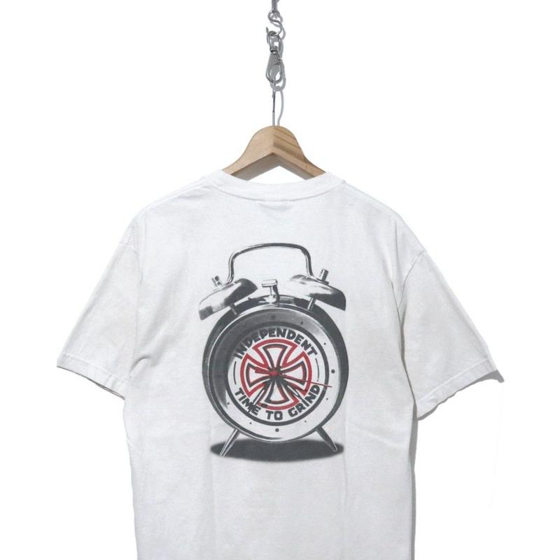 "00's初期 INDEPENDENT ""TIME TO GRIND"" 両面プリント Tシャツ WHITE"