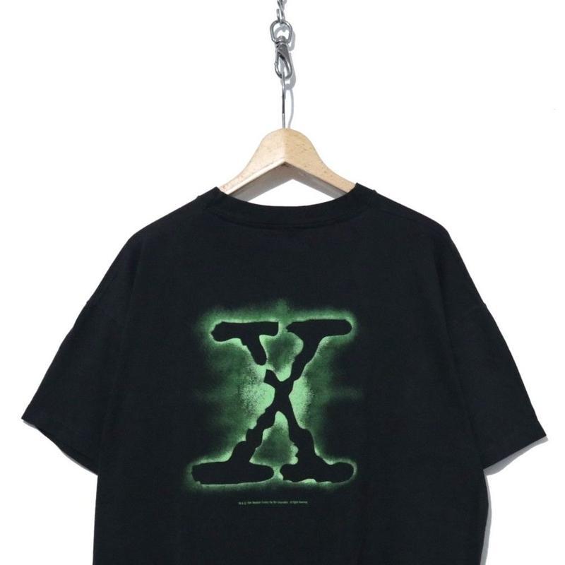 90's X-FILES 両面プリント Tシャツ コピーライト BLACK