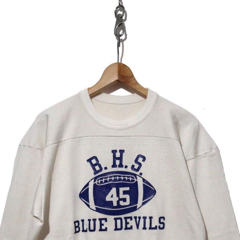 70's Champion 七分袖フットボールTシャツ XL
