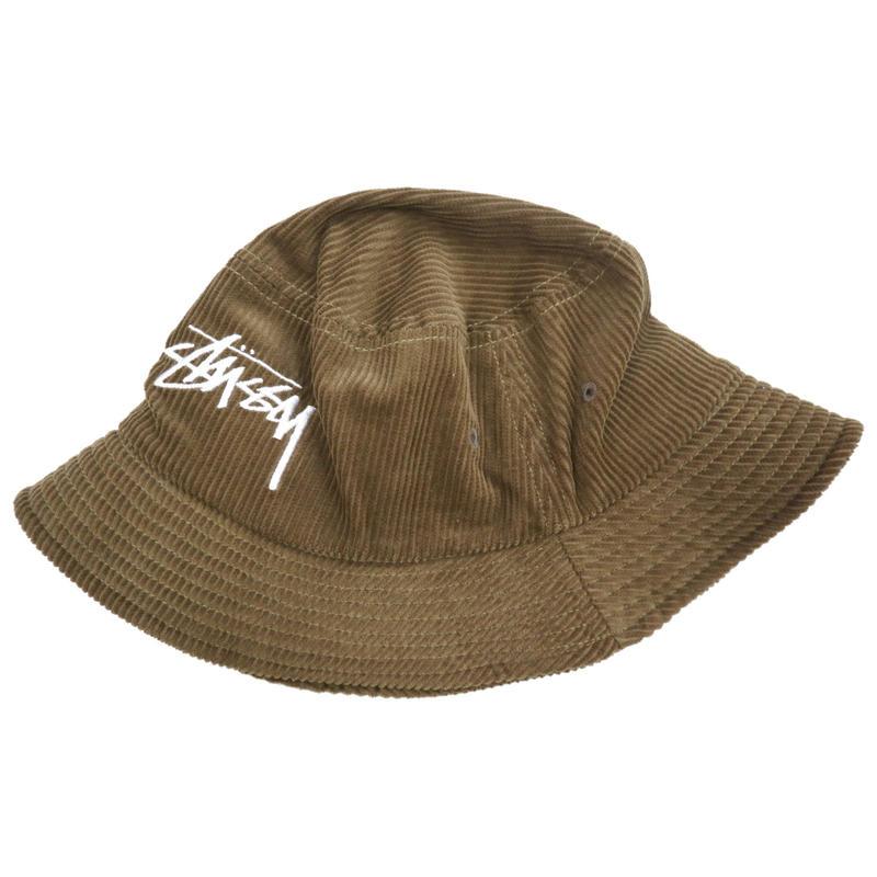 STUSSY Bucket Hat ストックロゴ BROWN L/XLサイズ