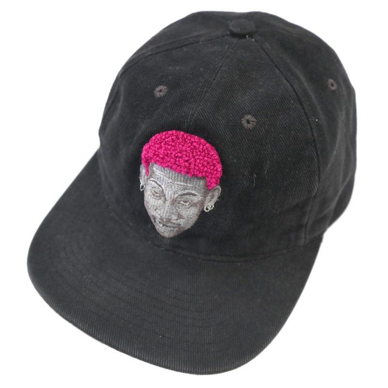 """90's NIKE """"RODMAN"""" 6-Panel CAP BLACK×PINK USA製"""