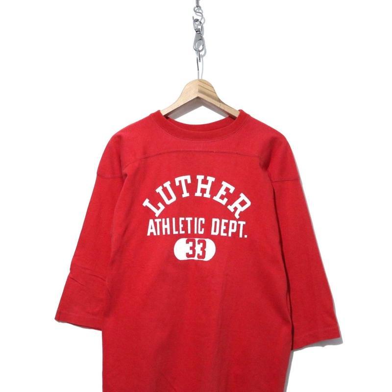 70's CHAMPION コットン 三段プリント フットボール Tシャツ XLサイズ