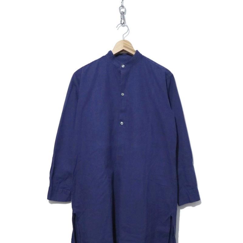 ノーカラー グランパシャツ(ワンピース) NAVY