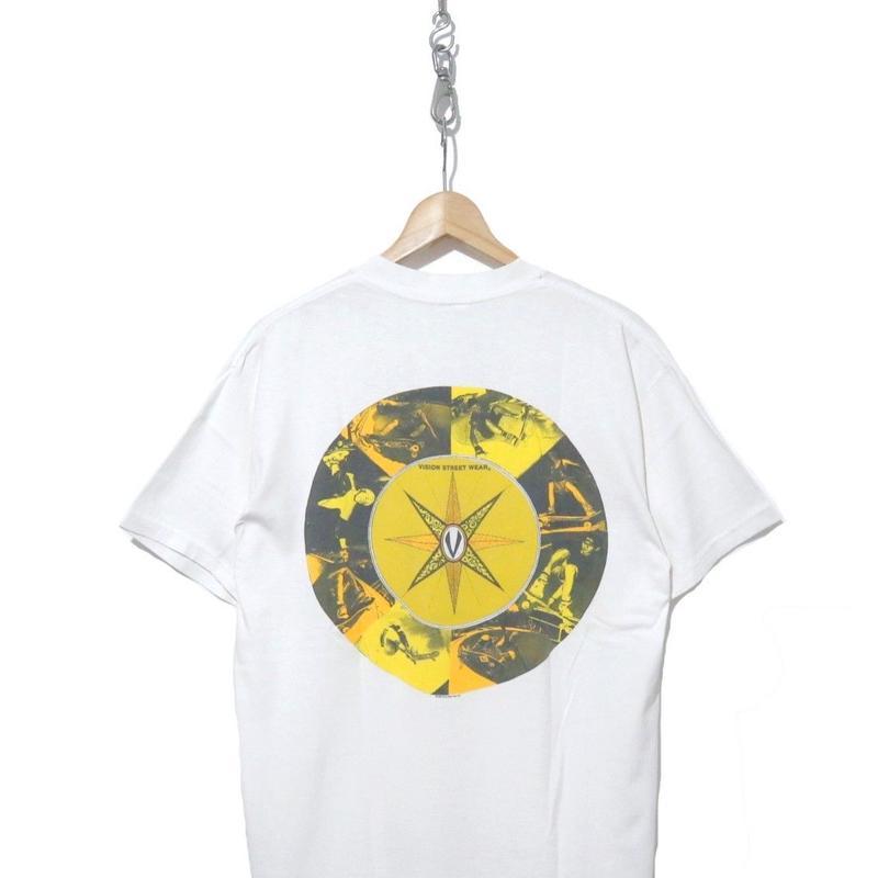 90's VISION 両面プリント Tシャツ WHITE XLサイズ USA製
