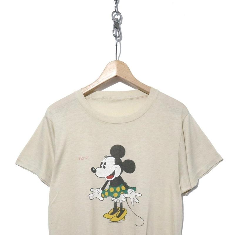"""70~80's Minnie Mouse """"Florida"""" プリント Tシャツ コピーライト"""