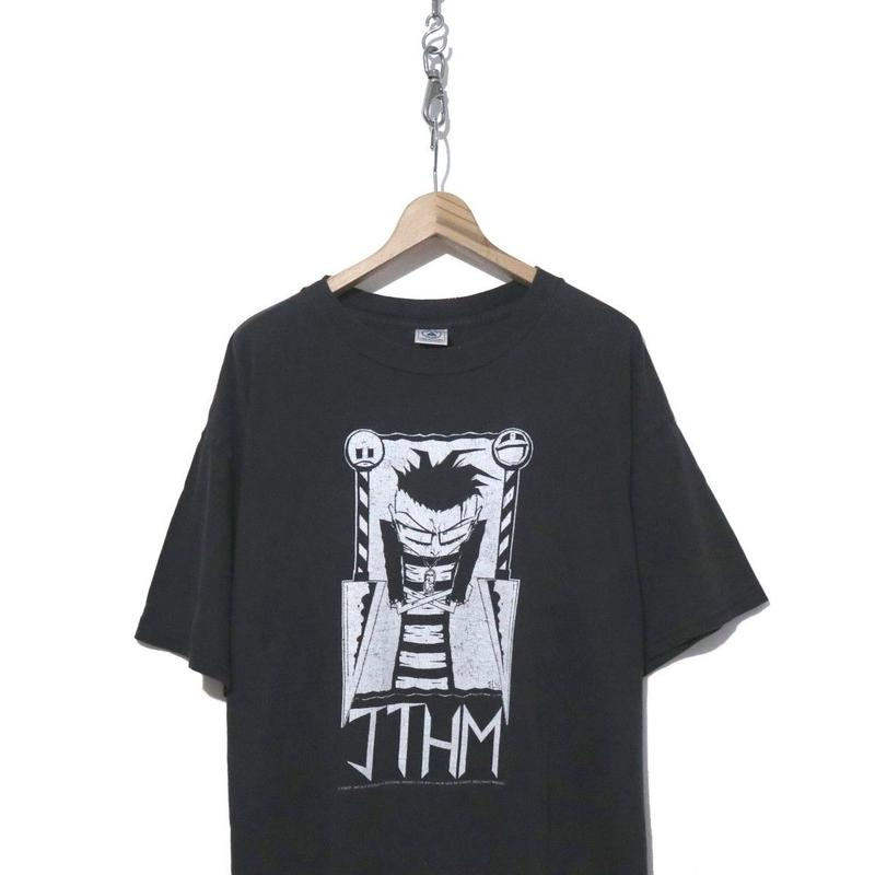 """90's """"JTHM"""" スミクロ 両面 プリント Tシャツ XLサイズ"""