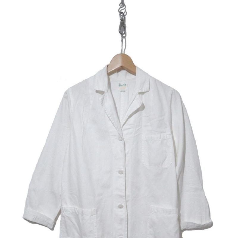 60's ワークシャツコート コットン WHITE CANADA製