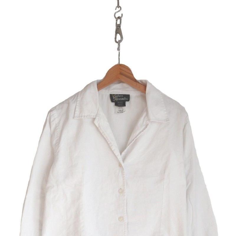 """""""レディース"""" 70's~ オープンカラー コットン レースシャツ 14サイズ"""