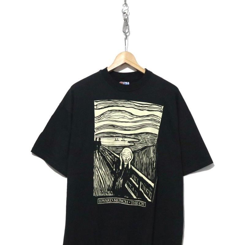 "90's Hanes EDWARD MUNCH ""THE CRY"" Tシャツ USA製 XLサイズ"