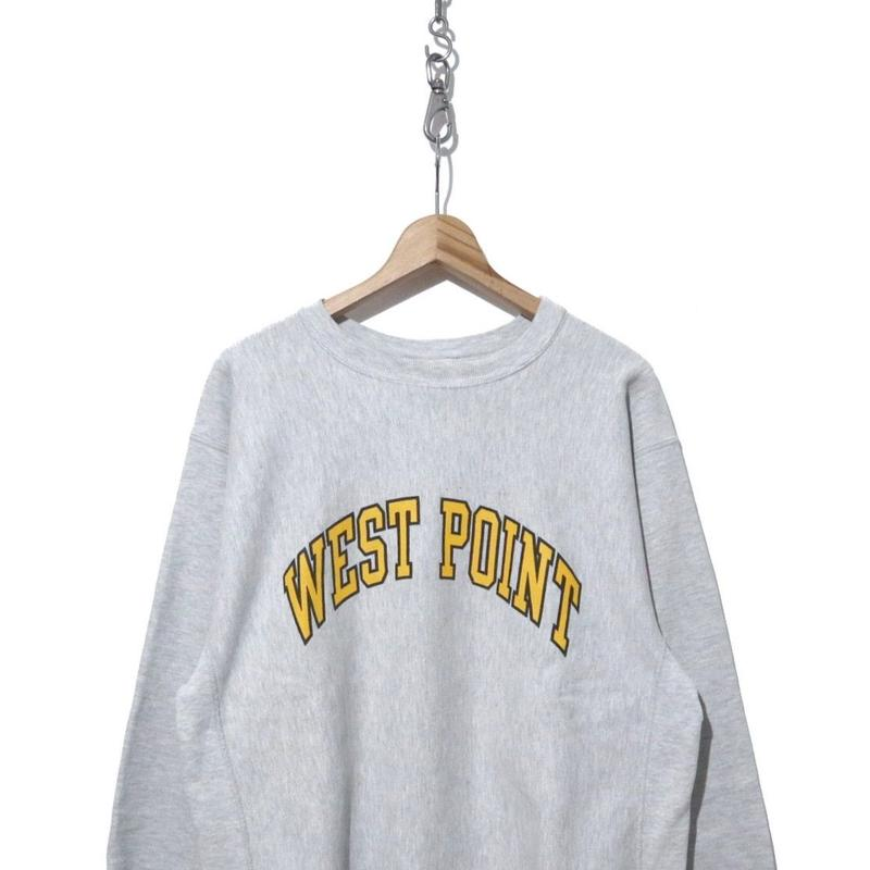 """90's CHAMPION REVERSE WEAVE """"WEST POINT"""" 両面プリント XLサイズ"""