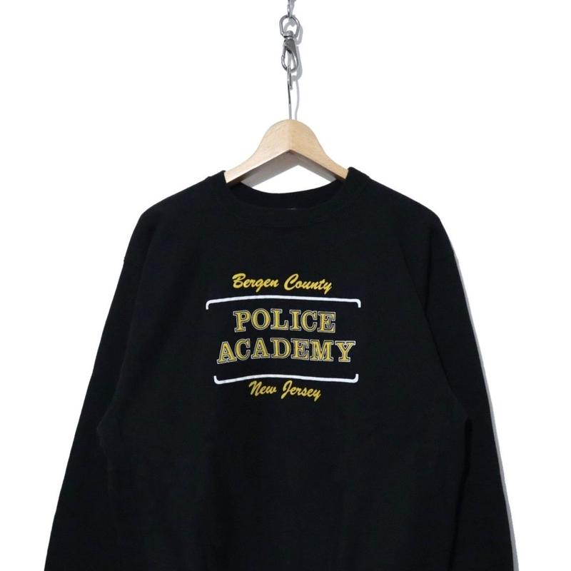 """90's CHAMPION REVERSE WEAVE 両面プリント """"POLICE ACADEMY"""" BLACK"""