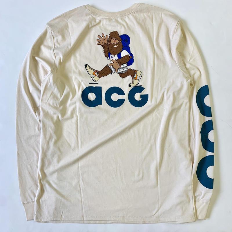 """新品 国内未入荷 NIKE ACG Long sleeve T-shirts """"HIKE NIKE"""" NATURAL"""