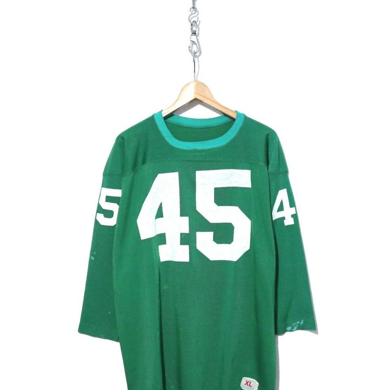 """70's CHAMPION ナンバリング """"肩プリント"""" フットボール Tシャツ"""