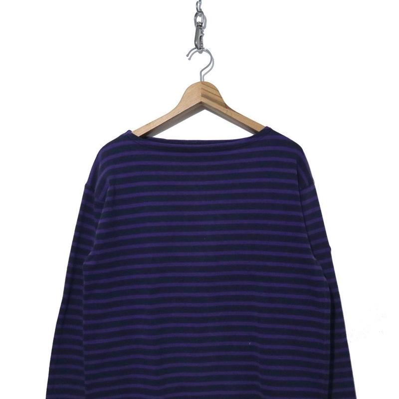 """SAINT JAMES ボーダー バスクシャツ """"ウエッソン"""" Navy/Purple Lサイズ"""
