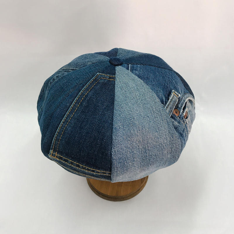 Old denim beret