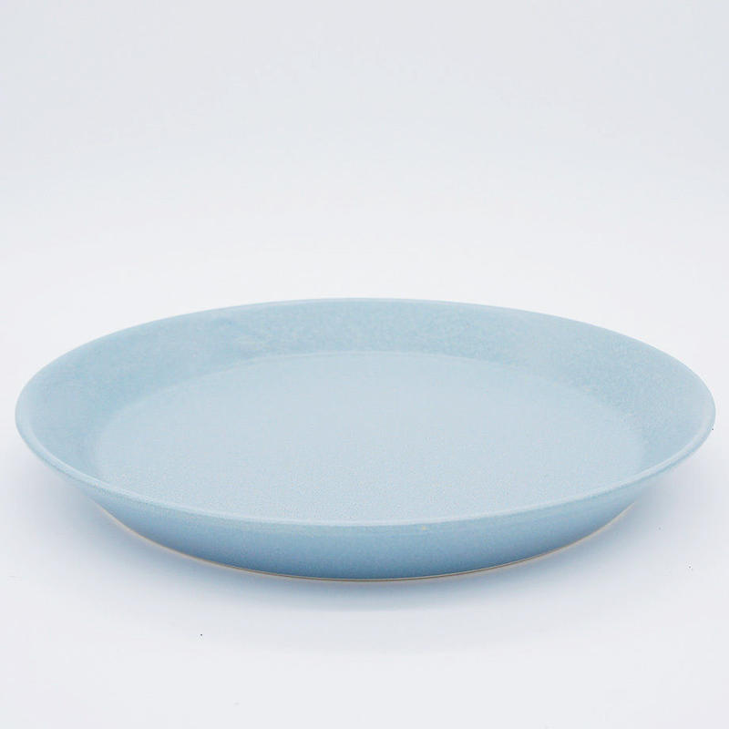 【M035bl】パンとごはんと... CAFE PLATE L  blue