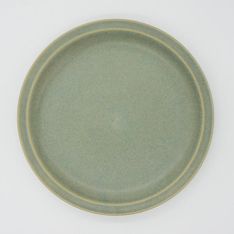 【M022】パンとごはんと... セラドングリーンの器 PLATE L