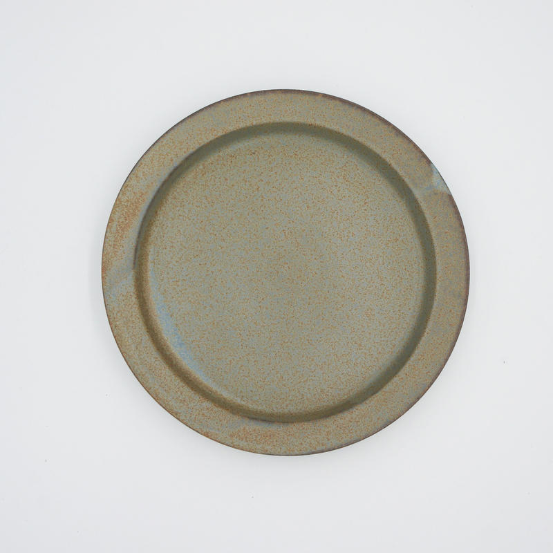 【AP003gy】Ancient Pottery PLATE L gray