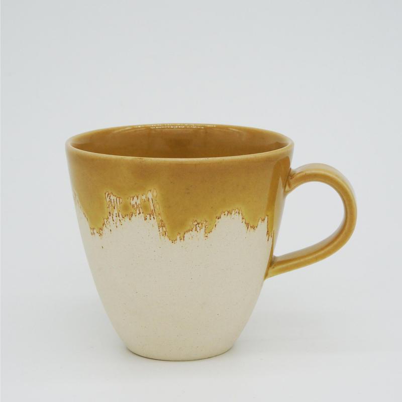 【M015mb】パンとごはんと... 艶釉の器 MUG CUP mont blanc