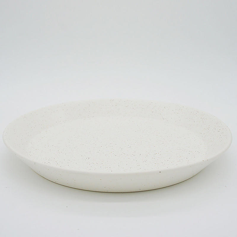 【M035wh】パンとごはんと... CAFE PLATE L  white