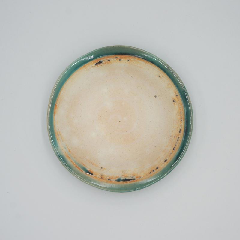 【M037tb】パンとごはんと...  艶釉の器 PLATE S turkey blue
