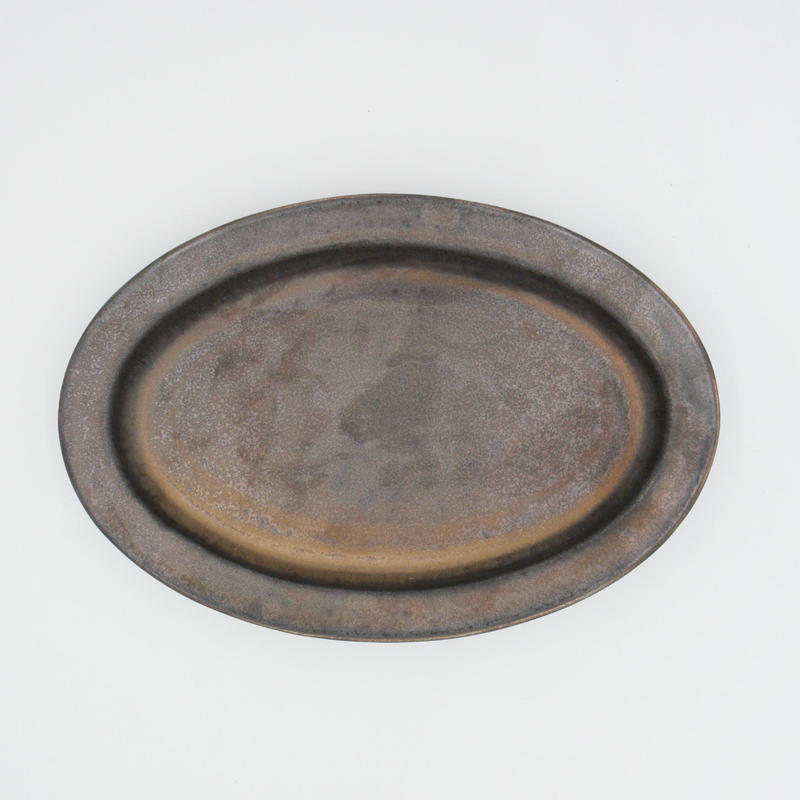 【AP004br】Ancient Pottery OVAL PLATE brass