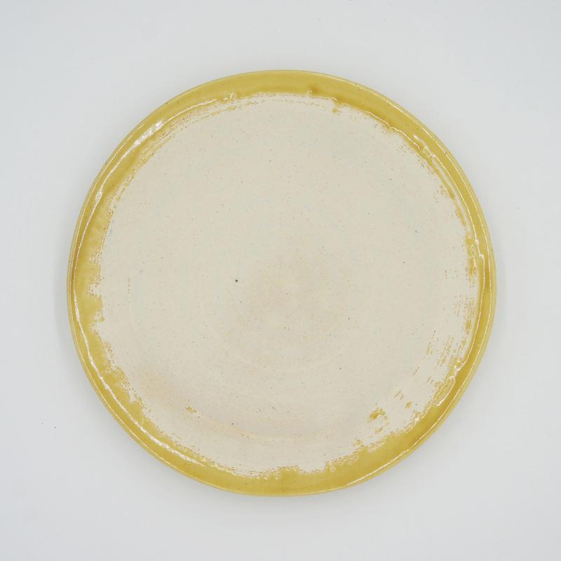 【M038mb】パンとごはんと...  艶釉の器 PLATE M mont blanc