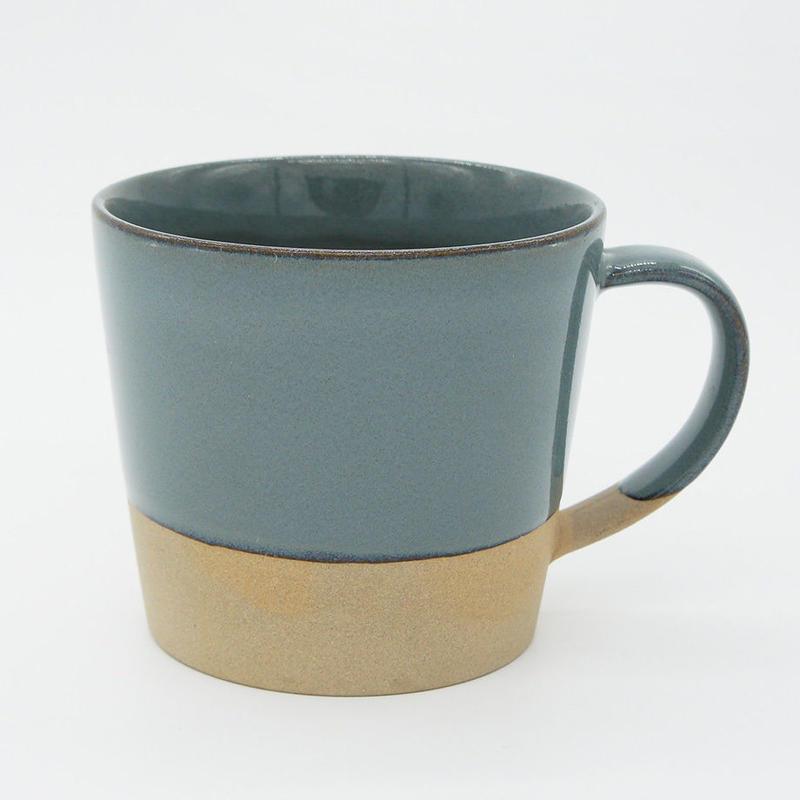 【M026bl】パンとごはんと...  MUG CUP blue