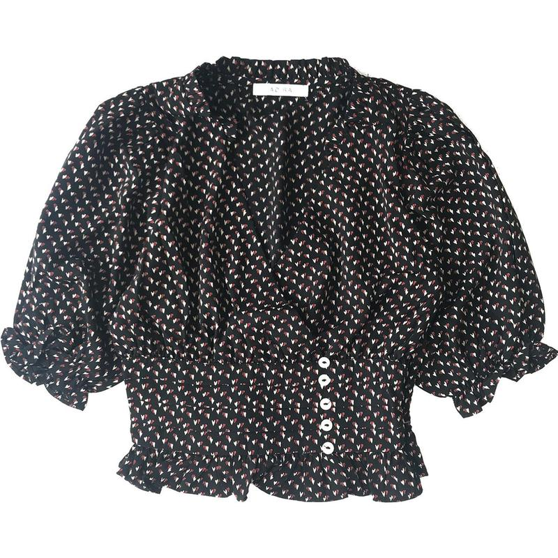 <ADIRA>Heart dot blouse AR183TP24