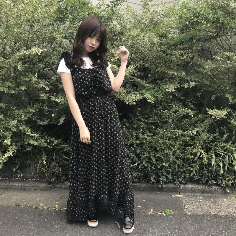 <ADIRA>draw strings flower long skirt AR182SK17