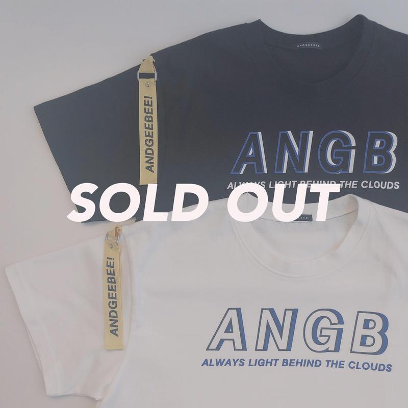 <ANDGEEBEE>【UNISEX】ANGBテープTシャツ AG191CS14