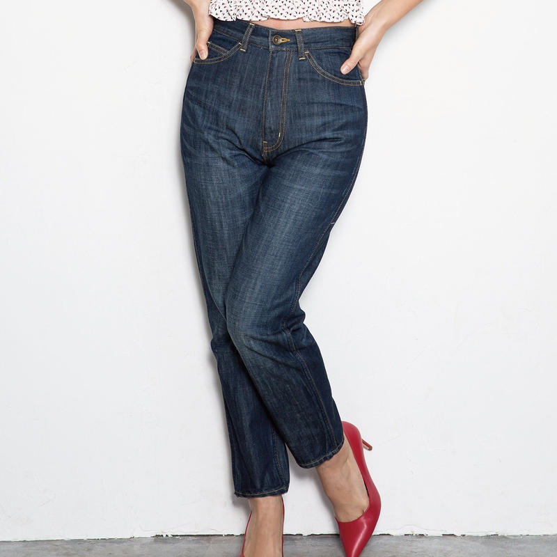 <ADIRA>back race-up high waist denim AR183PT08