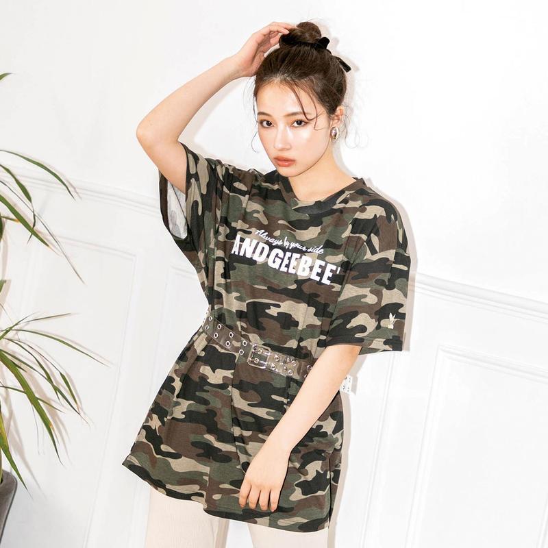 <ANDGEEBEE>【UNISEX】ロゴプリントTシャツ AG191CS11