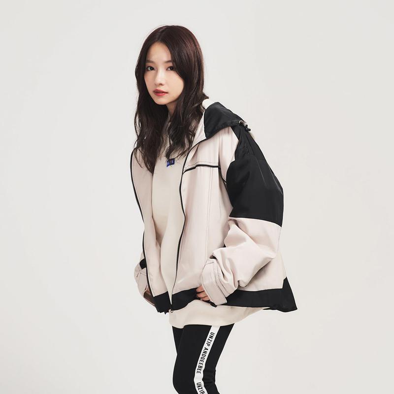<ANDGEEBEE>bicolor big jacket AG183JK02