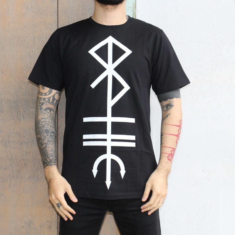 SANG BLEU / MONOGRAM T-SHIRT BLACK