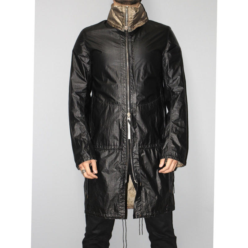DEEPTI BARTH / REAL SILVER REVERSIBLE PARACHUTE COAT