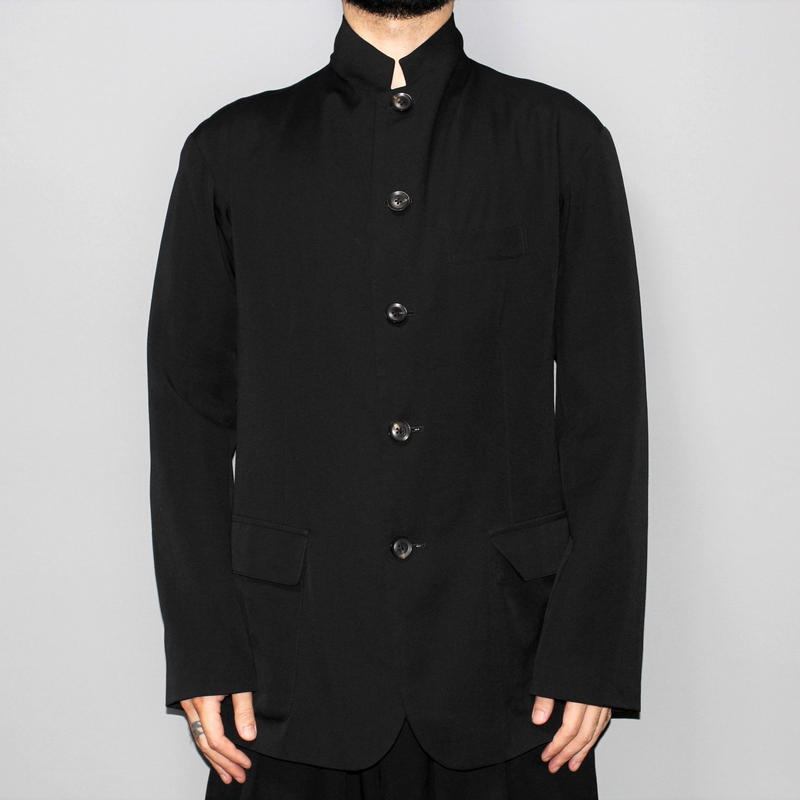 Yohji yamamoto pour homme / 18SS Stand collar wool gabardine jacket