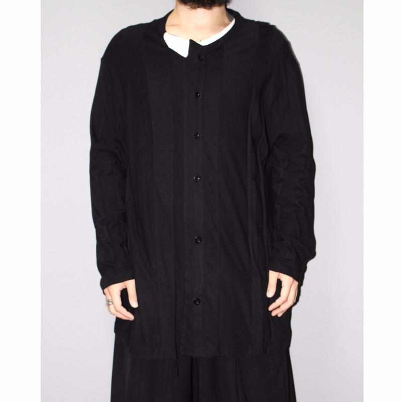 SS16 Yohji yamamoto pour homme / Over sized cotton vertical line paneled cardigan