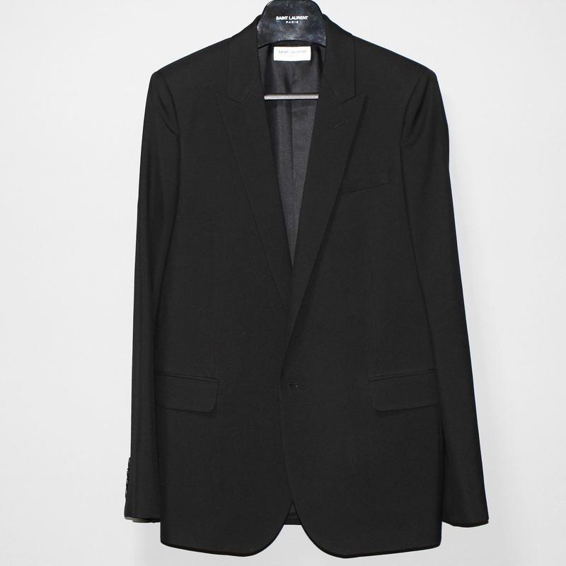 SAINT LAURENT PARIS / FW15 Smoking wool gabardine jacket