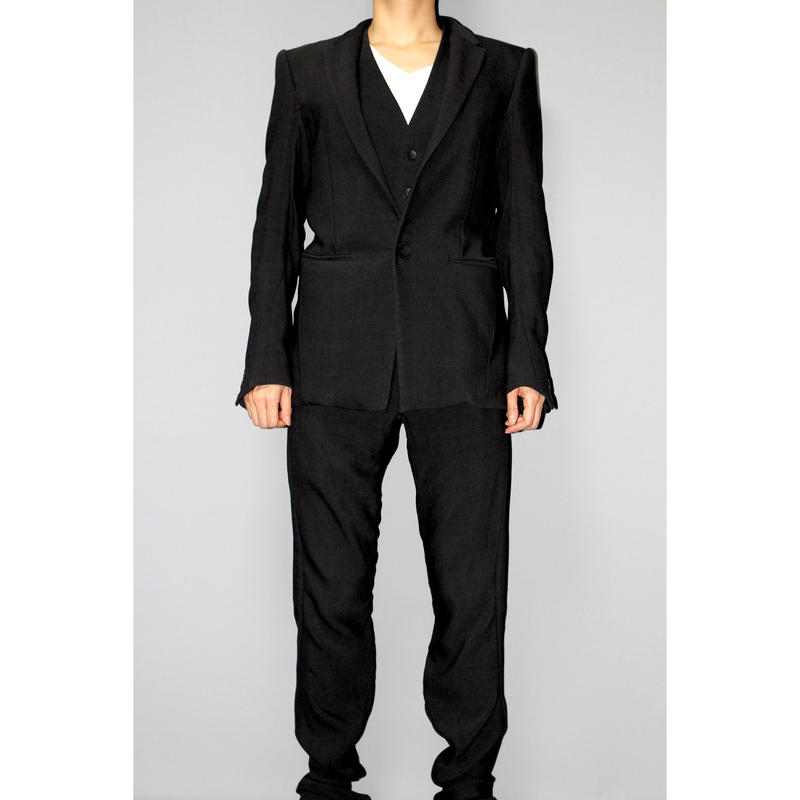 DEVOA / Wool anatomical 3 piece suit