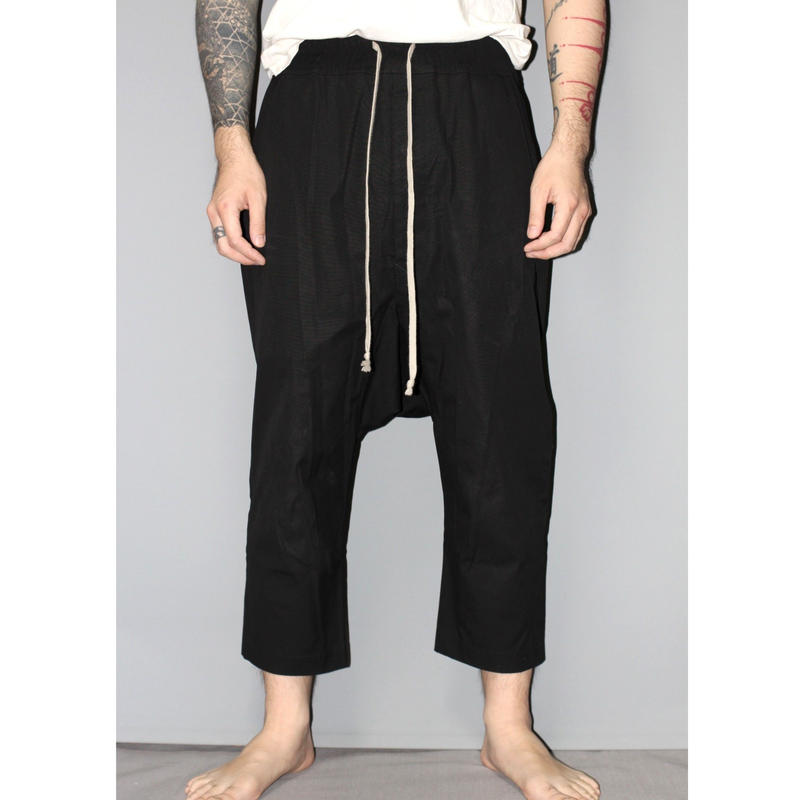 Rick owens / 18AW Cropped drop crotch pants