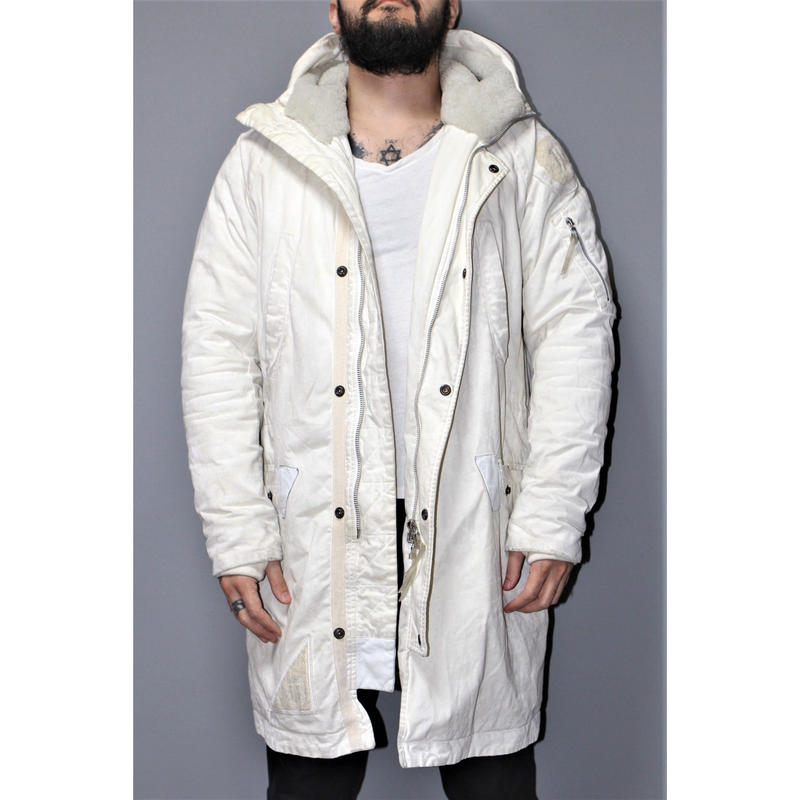 11 by BORIS BIDJAN SABERI / AW15 Weathering processed padded coat